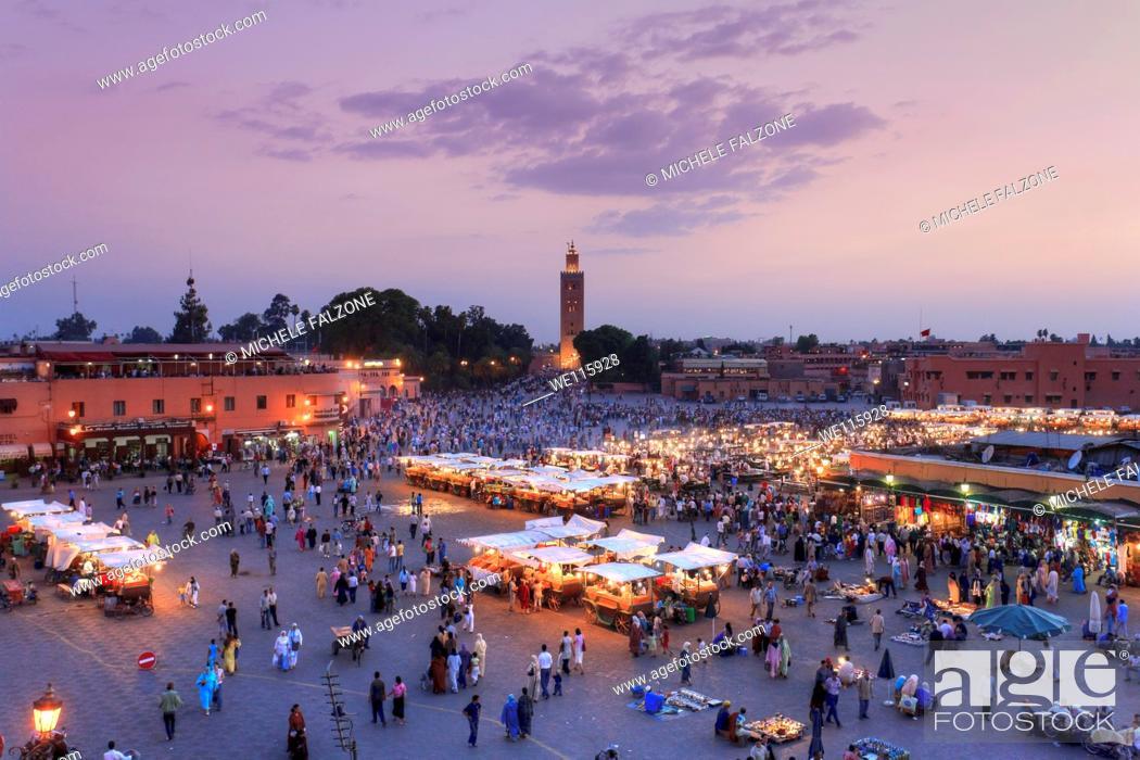 Stock Photo: Morocco, Marrakech, Djemaa el-Fna Square.