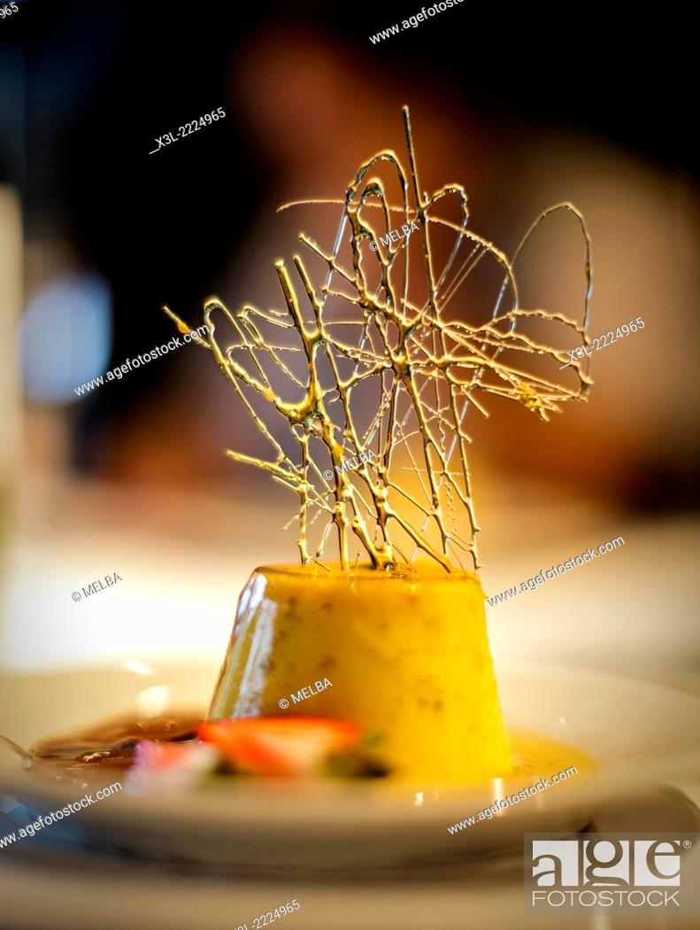 Stock Photo: Flan de queso, cheese flan. Uruguay.