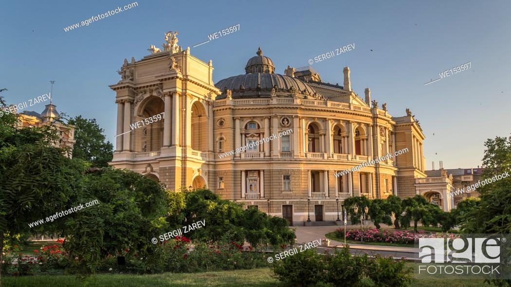 Stock Photo: Odessa National Opera and Ballet Theater in a summer morning.
