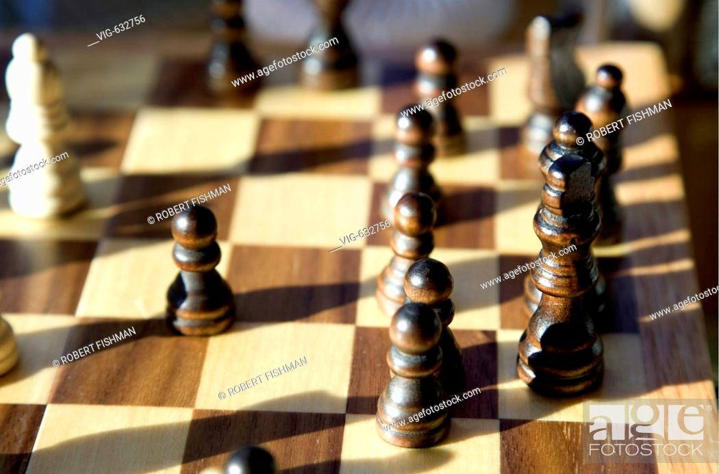 Stock Photo: Chess. - BIELEFELD, NORTH RHINE-WESTPHALIA, GERMANY, 20/02/2008.