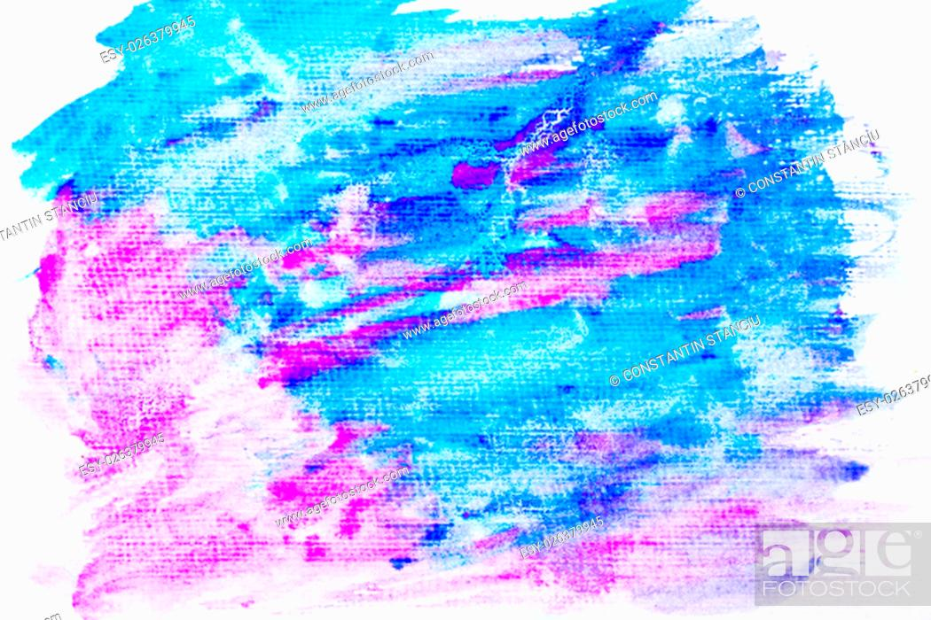 Stock Photo: Abstract water color textured background with blue and violet colors.