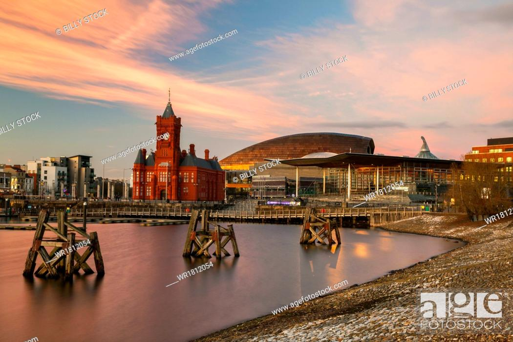 Stock Photo: Cardiff Bay, Cardiff, Wales, United Kingdom, Europe.