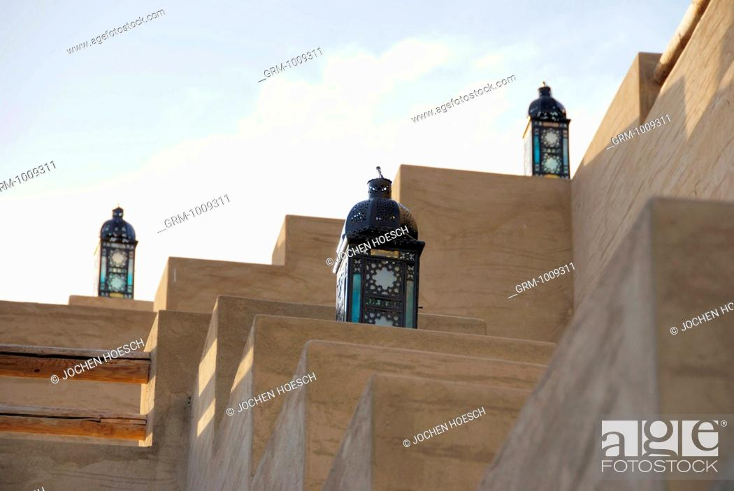 Stock Photo: Traditional Arabian lanterns in Bab Al Shams, near Dubai, UAE.