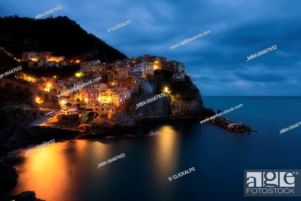 Stock Photo: Manarola - Liguria, Italy.
