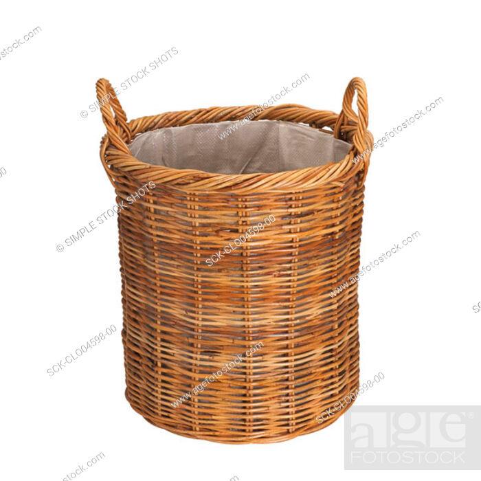 Stock Photo: laundry basket.