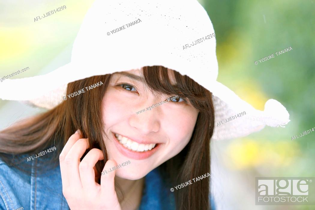 Stock Photo: Attractive young Japanese woman portrait.