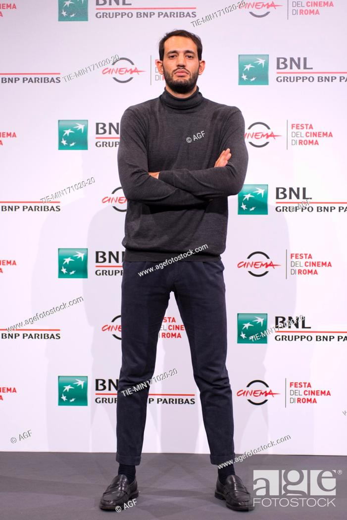 """Stock Photo: Valerio Santucci attends the photocall of the movie """"""""Le Eumenidi"""""""" during the 15th Rome Film Festival on October 17, 2020 in Rome, Italy."""