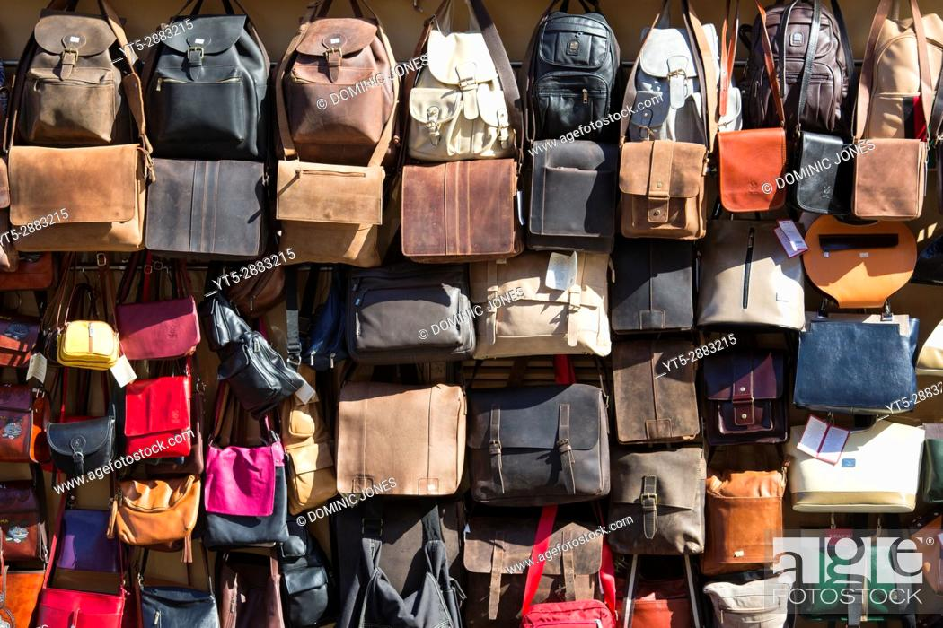 Stock Photo: Handbags for sale in Vatican City, Europe.