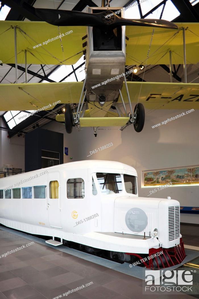 Stock Photo: France, Puy-de-Dome Department, Auvergne Region, Clermont-Ferrand, L'Aventure Michelin museum, museum entrance.