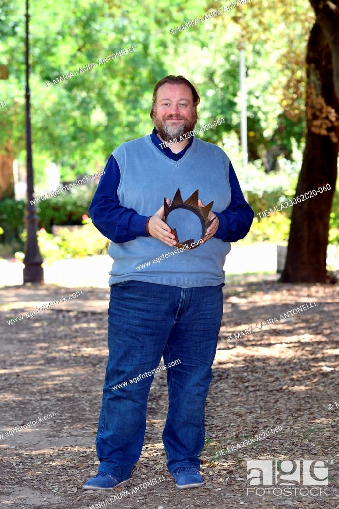 Stock Photo: Actor Stefano Fresi during the photocall of film ' Il Regno' (The Kingdom) , Rome, ITALY-23-06-2020.