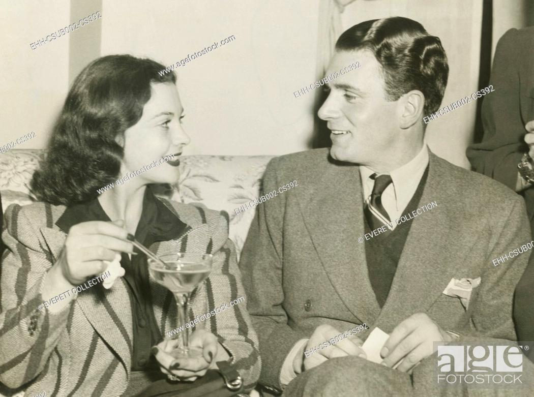 Stock Photo: Vivien Leigh and Laurence Olivier in Atlanta, Georgia, Dec. 12, 1939. Vivien Leigh was there for the World Premiere of GONE WITH THE WIND, on Dec.