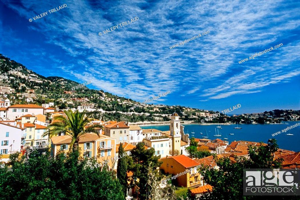 Stock Photo: Villefranche sur mer, Alpes-MAritimes, 06, French Riviera, Cote d'Azur, France, Europe.