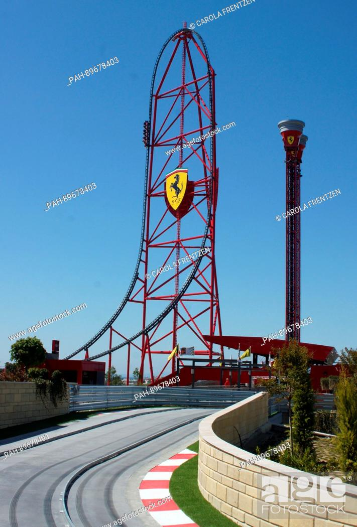 Red Force The Highest And Fastest Vertical Roller Coaster Of Europe Can Be Seen At The New Stock Photo Picture And Rights Managed Image Pic Pah 89678403 Agefotostock