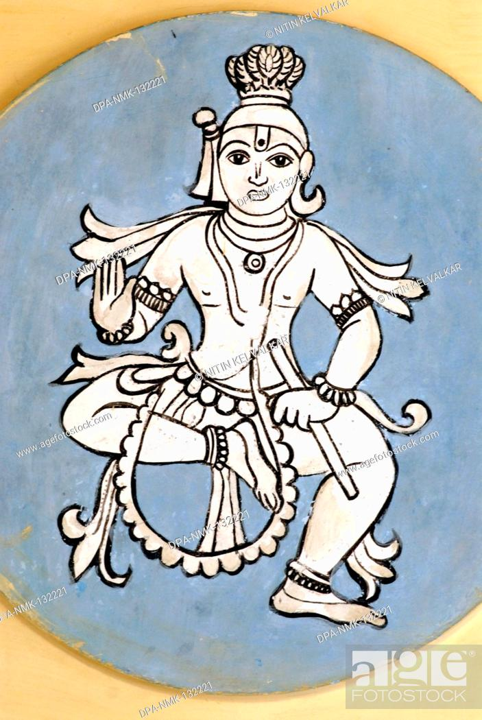 Wall Painting Of Krishna Or The Divine Statesman Eighth