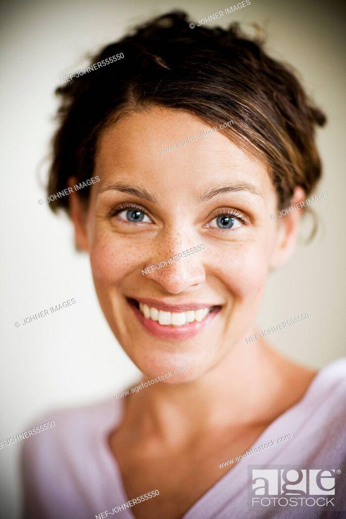 Stock Photo: Portrait of a woman, Sweden.