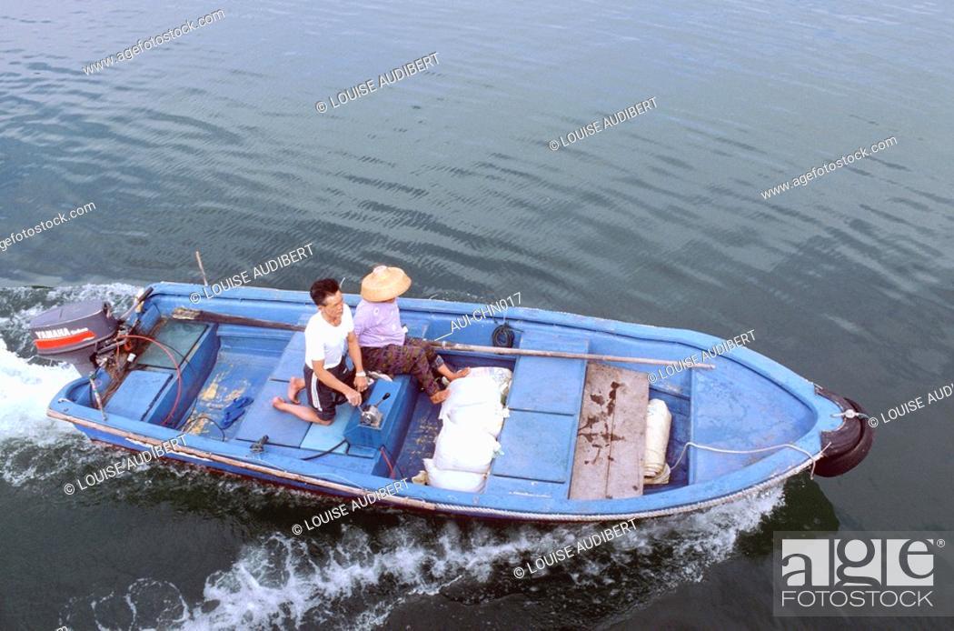 Stock Photo: Hong-Kong - eaux de Lanteau.