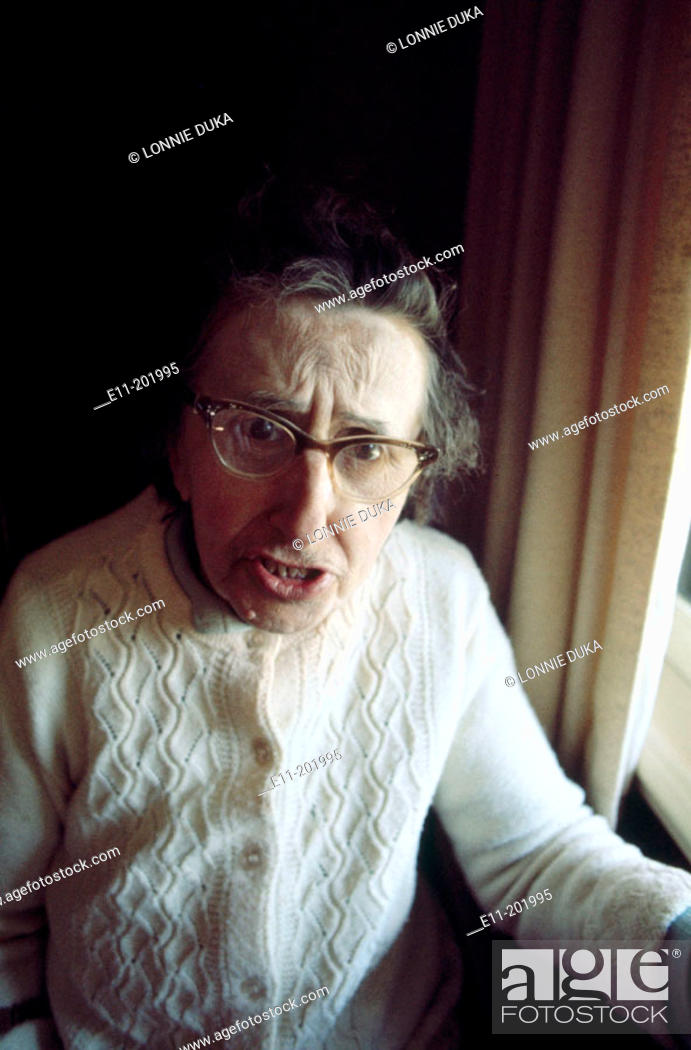 Stock Photo: Portrait of elderly woman.