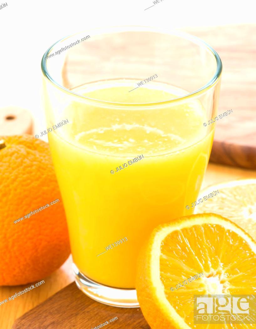 Photo de stock: fresh orange juice.