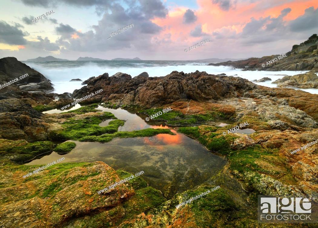 Stock Photo: Spain. Galicia. Pontevedra. Vigo. Beach Bride. Saians.