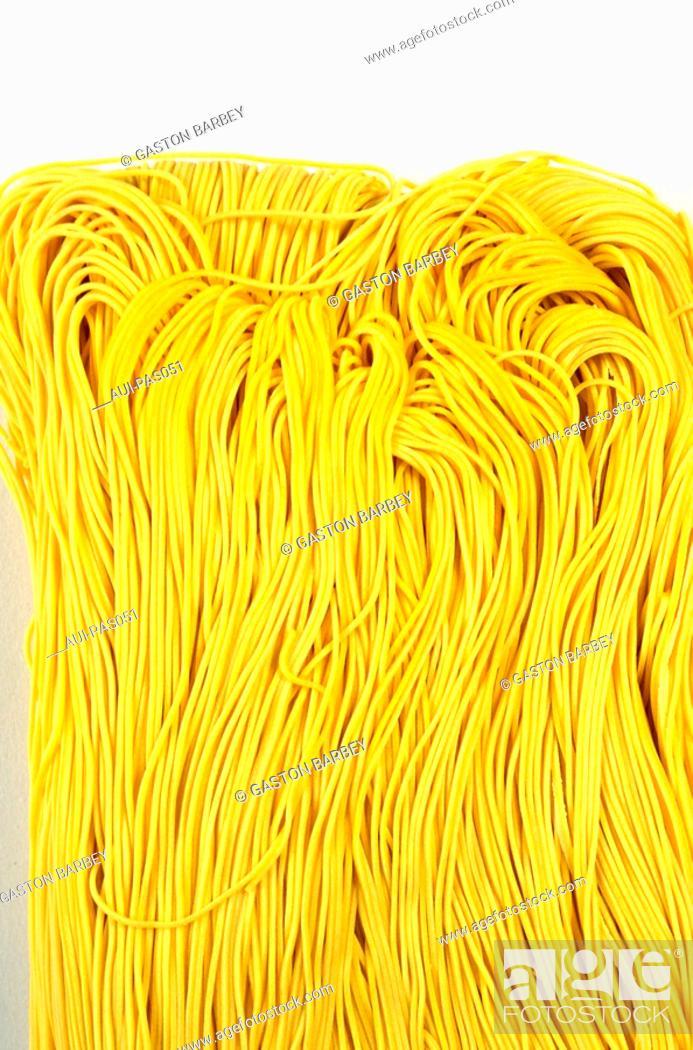 Stock Photo: Pasta - Asian Noodles - Wheat Flour Pasta.