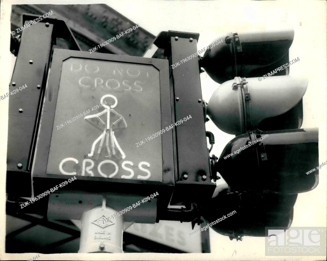 Stock Photo: Sep. 09, 1963 - Mr. Marples Inaugurates Crossing Experiment: The Minister of Transport Mr. Ernest Marples, this morning inaugurated the first of the new 'Saint'.