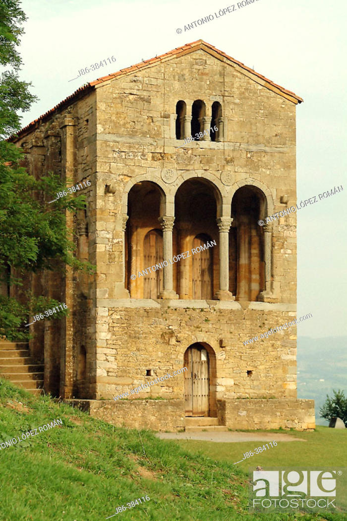 Stock Photo: Church of Santa María del Naranco. Asturias. Spain.