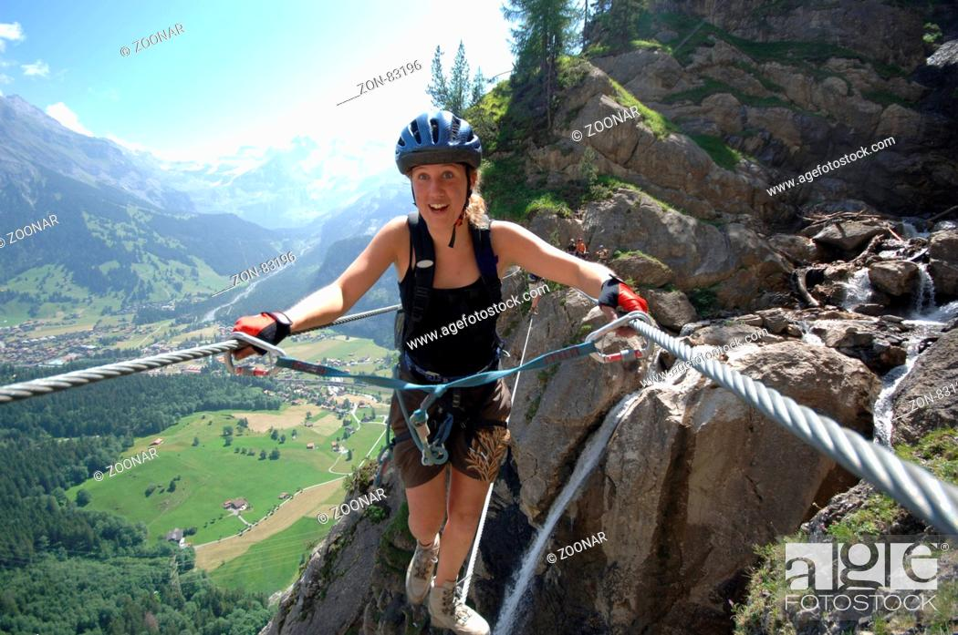 Klettersteig Allmenalp : Klettersteig allmenalp stock photo picture and rights managed