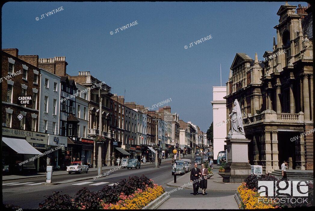 Imagen: High Street, Leamington Spa, Warwickshire, England, UK, 1960.