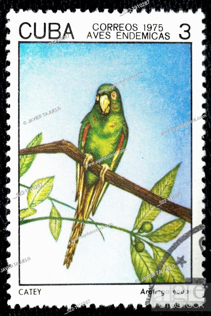 Stock Photo: Cuban stamp.