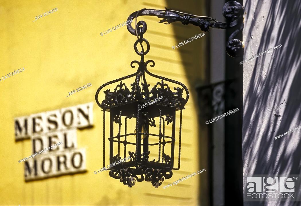 Stock Photo: Street Lamp. Barrio Sta. Cruz. Seville. Spain.