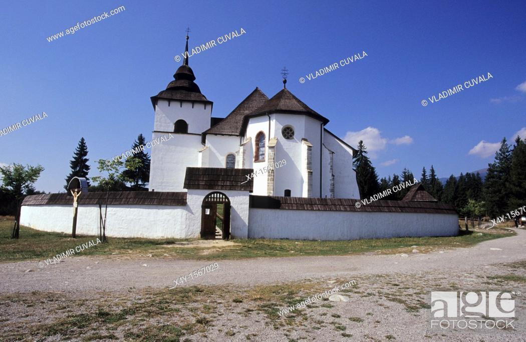 Stock Photo: The open air museum of architecture of Liptov's region in Pribilina Muzeum Liptovskej dediny, Slovakia.