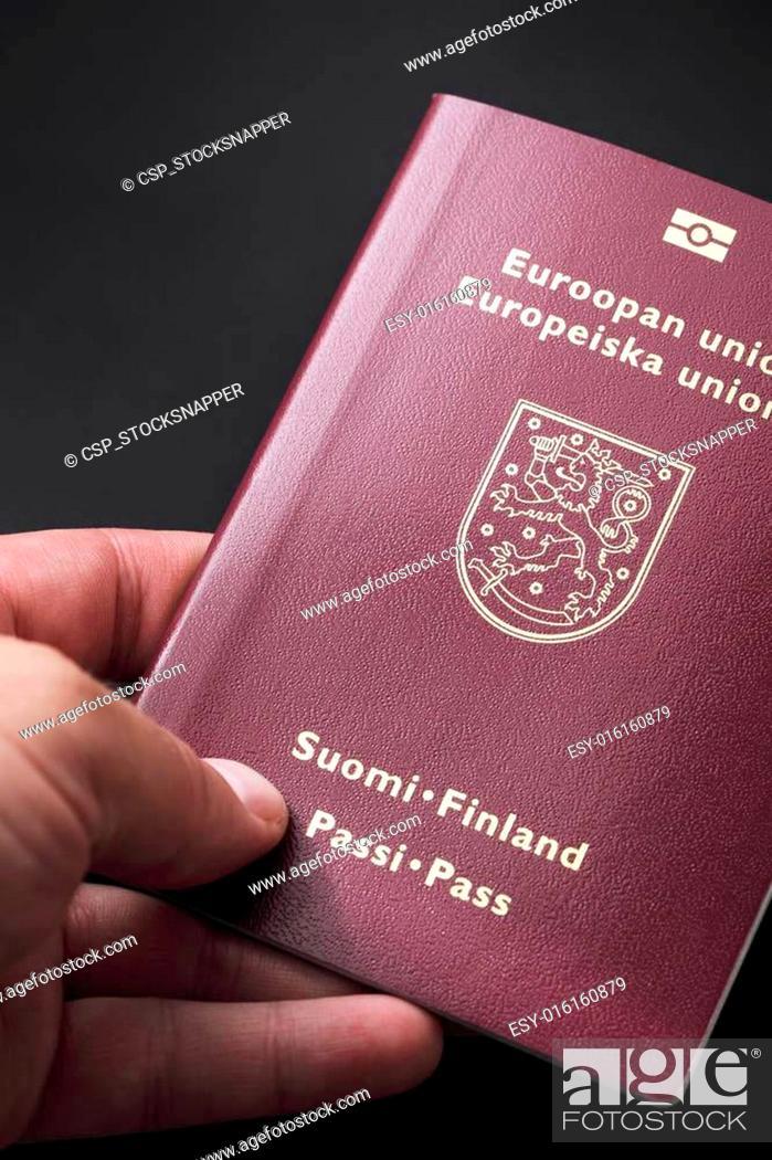 Photo de stock: Finnish Passport.