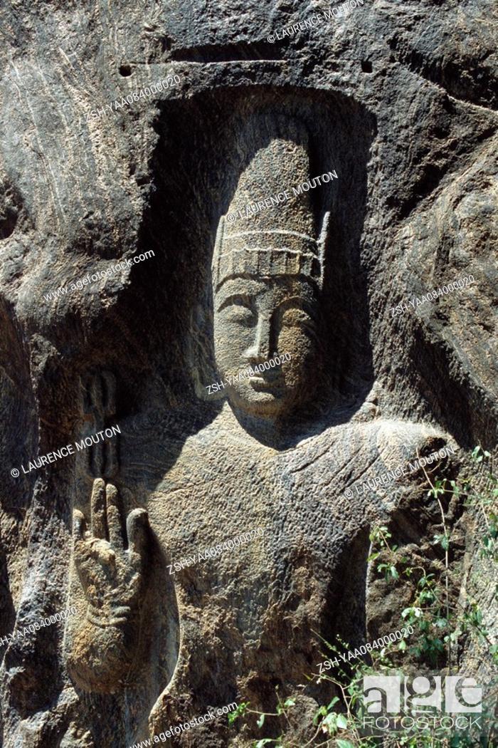 Stock Photo: Buddha, bas relief statue, Myanmar.