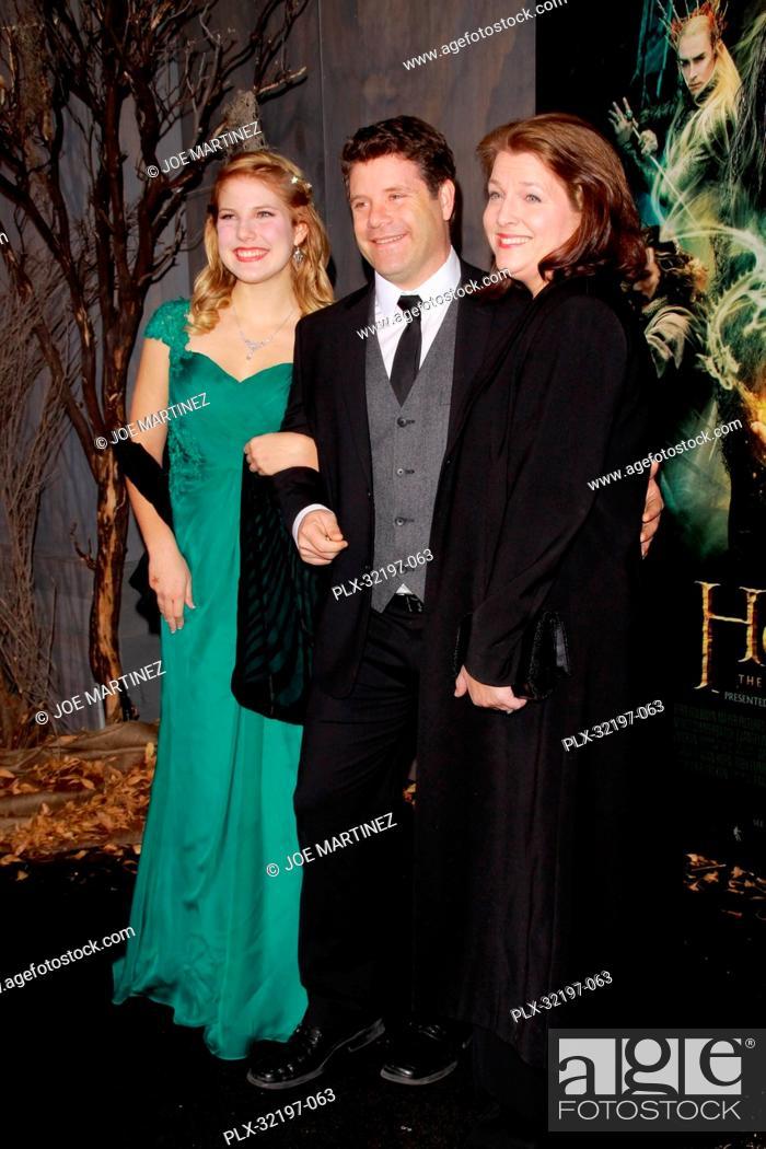 Sean Astin Wife Christine Astin And Daughter Alexandra Astin At