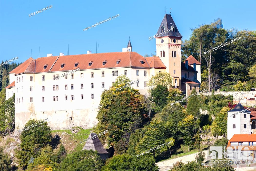 Stock Photo: Vimperk castle, Czech Republic.