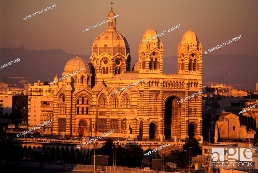 Stock Photo: France, Bouches-du-Rhône (13), Marseille, Major cathedral.