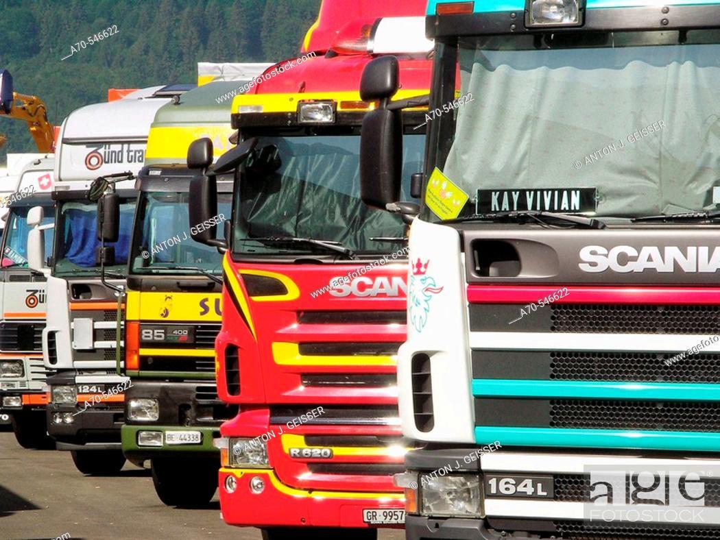 Stock Photo: Truck and Country Festival in Interlaken, Bern canton, Switzerland.