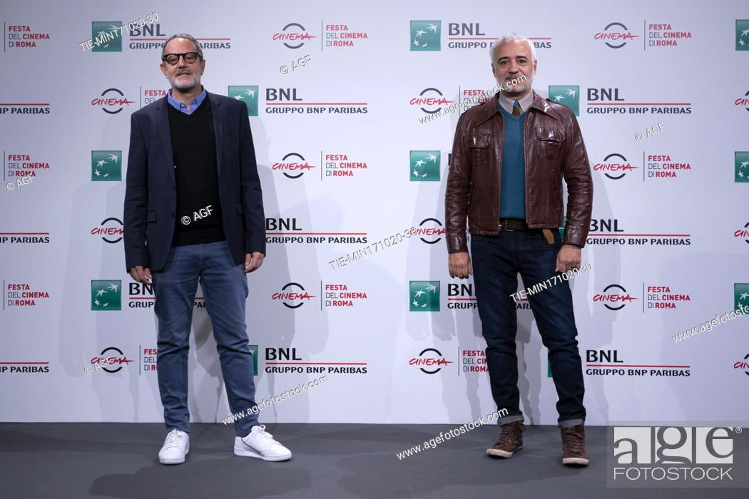 """Stock Photo: Michel Ruben, Javier Fuentes Leon attends the photocall of the movie """"""""Las Mejores Familias"""""""" (The Best Families) during the 15th Rome Film Festival on October."""