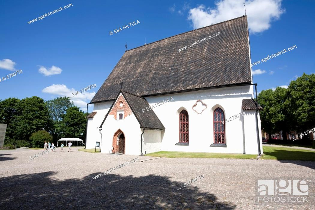 Stock Photo: Old cathedral of Porvoo Finland.