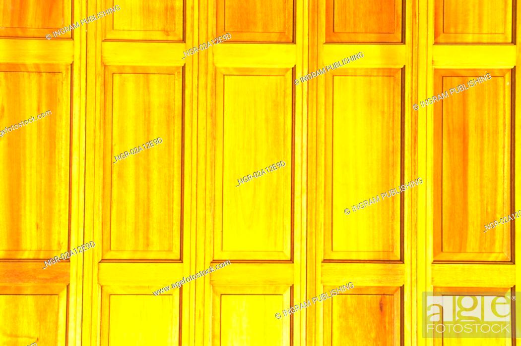 Stock Photo: Close-up of a wooden door.