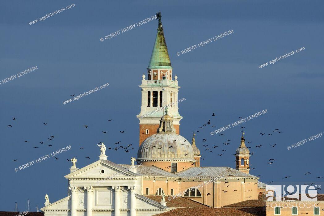 Stock Photo: San Giorgio Maggiore church, Venice, Italy.