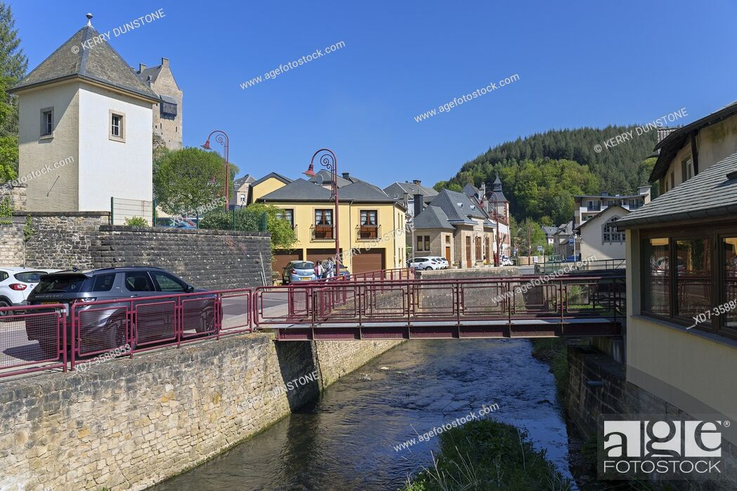 Imagen: Europe, Luxembourg, Larochette, Ernz Blanche River (Wä) from Chemin J-A Zinnen.