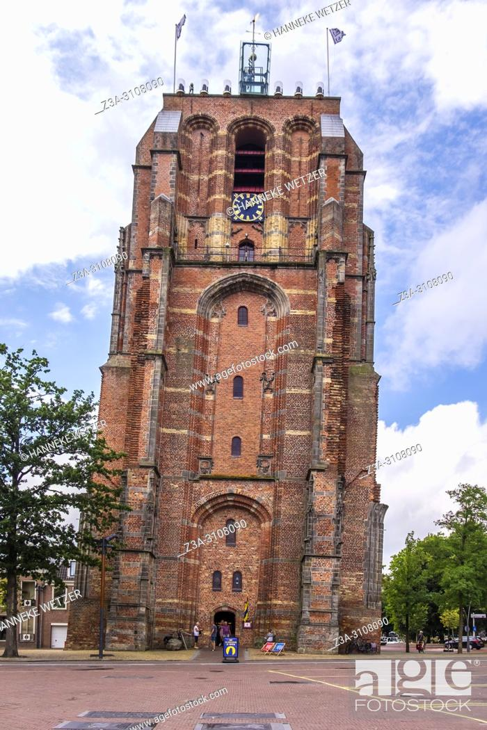 Photo de stock: The Oldehove is a leaning tower in Leeuwarden that became the symbol of the city and the proud of itâ. . s inhabitants. Leeuwarden, Friesland, The Netherlands.