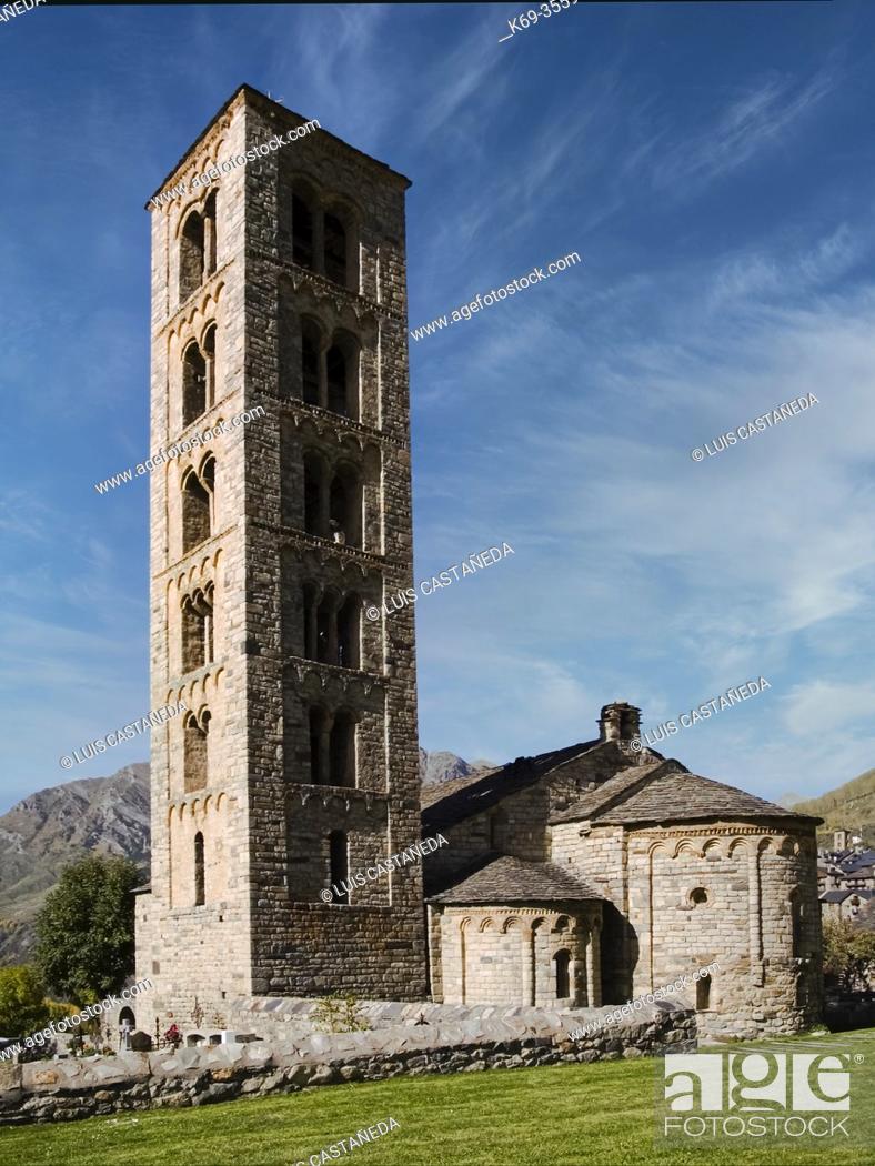 Stock Photo: Romanesque Church of S. Clemente. Tahüll. Spain.