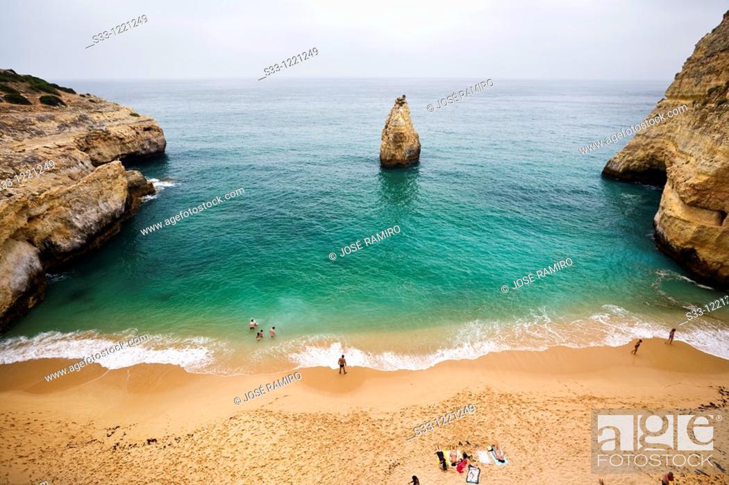 Stock Photo: Marina beach Algarve Portugal.