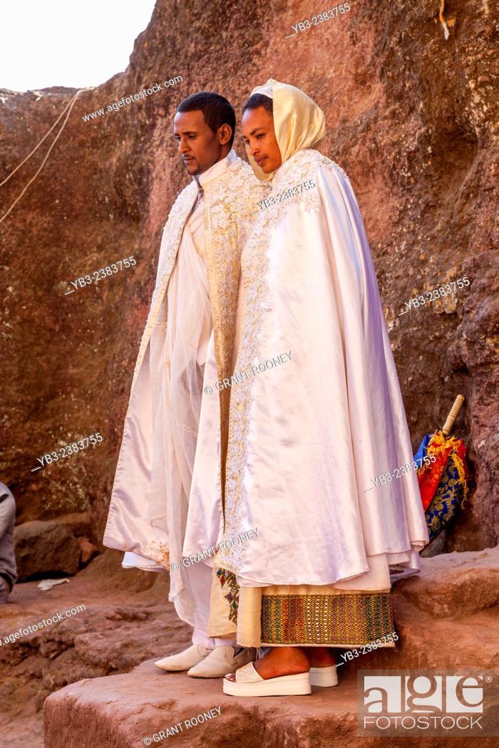 Stock Photo: Wedding Guests, Biete Maryam (House of Miriam/House of Mary), Lalibela, Ethiopia.