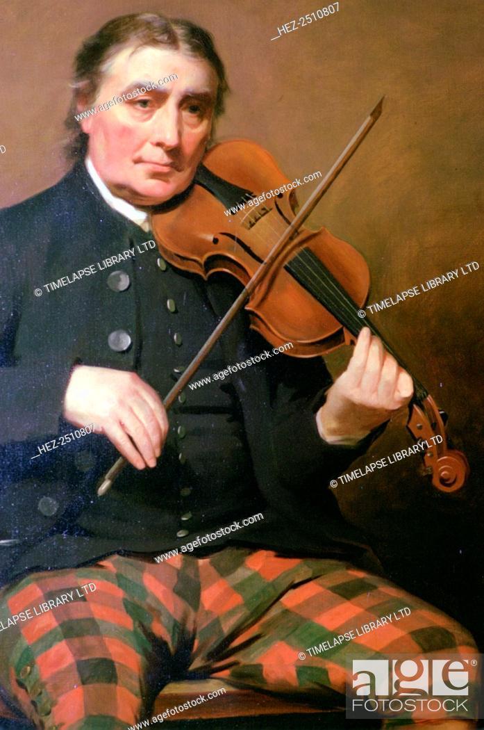 Portrait of Neil Gow, Blair Castle, Blair Atholl, Perthshire