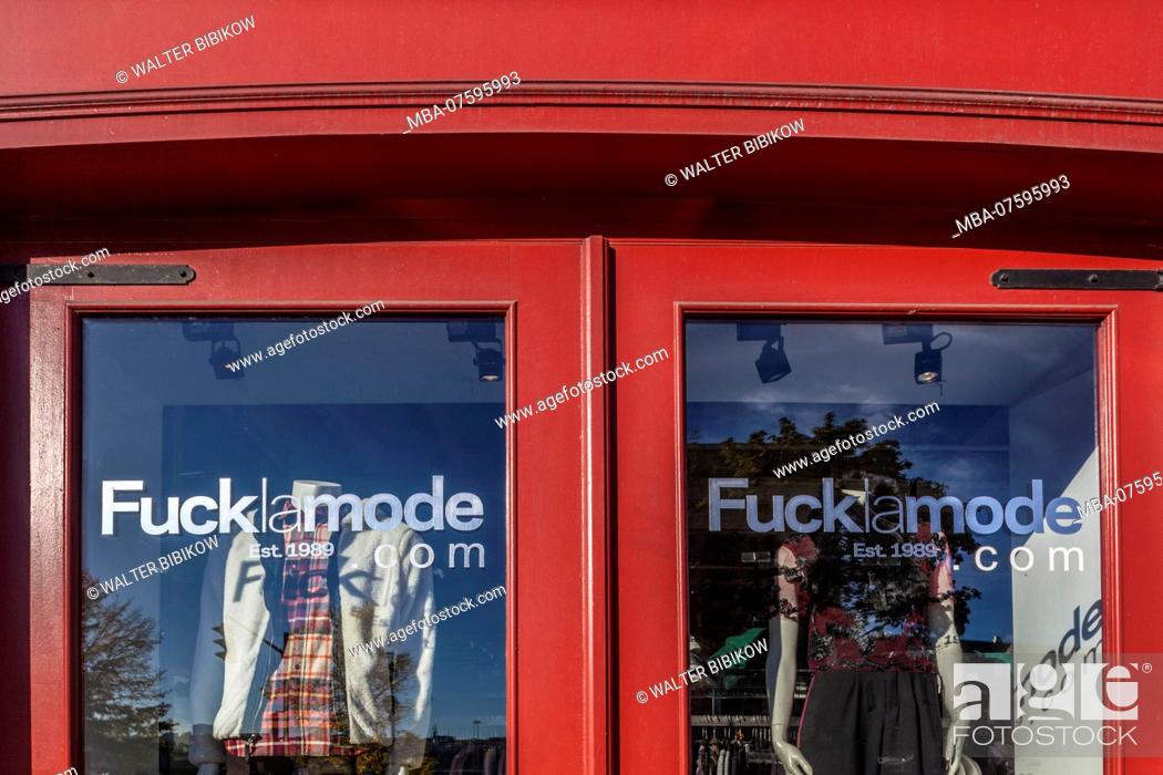 Canada Quebec Quebec City Fuck La Mode Shop Store Window Stock Photo Picture And Rights Managed Image Pic Mba 07595993 Agefotostock