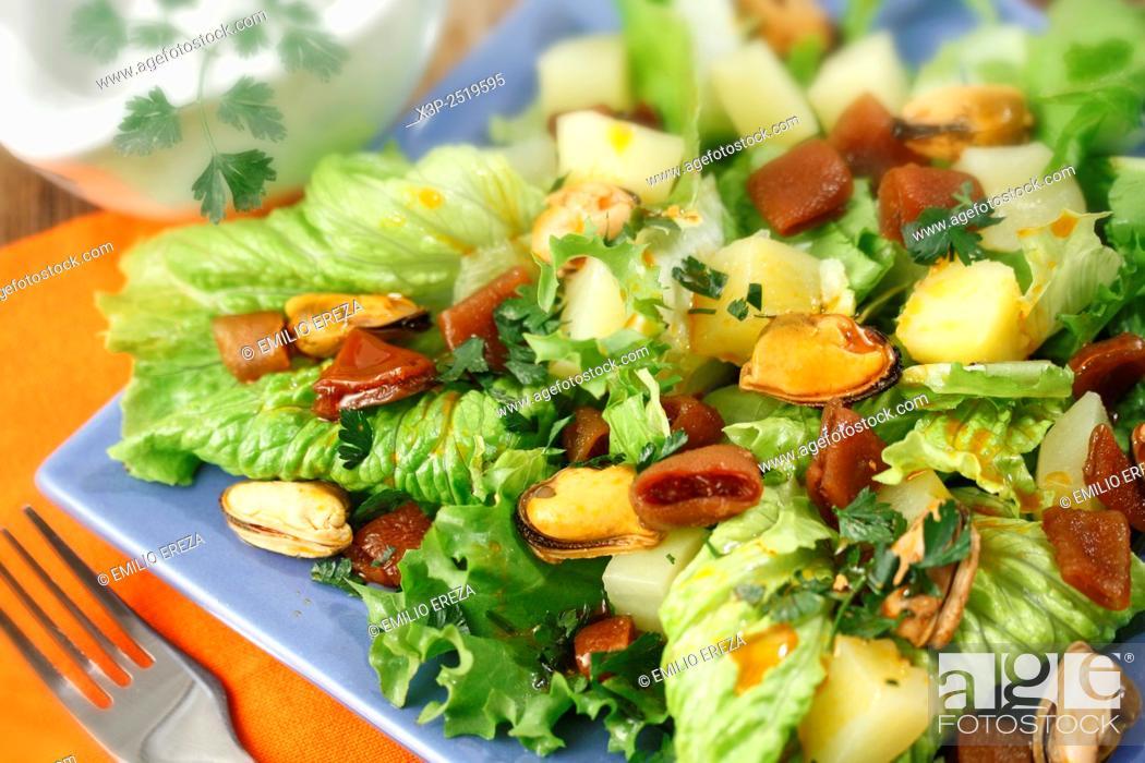 Stock Photo: Cochayuyo seaweed salad.
