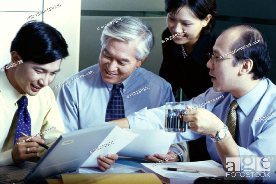 Stock Photo: Business executives in a meeting.